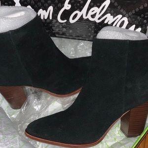 Sam Edelman Suede Black 'Blake' Bootie/Ankle Boot